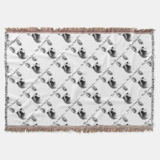 Frenchie Happy Face Throw Blanket