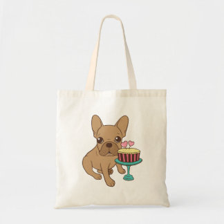 Frenchie has a Birthday Tote Bag