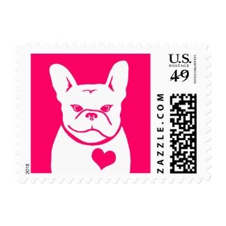 FRENCHIE HEAD (pick your background color) Postage Stamp