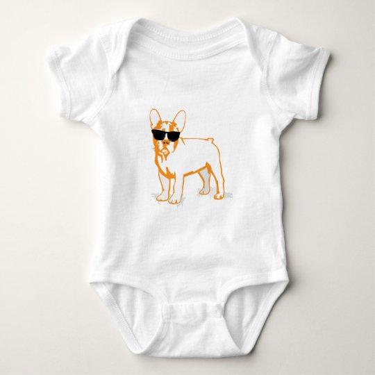 Frenchie Howlelu Baby Bodysuit