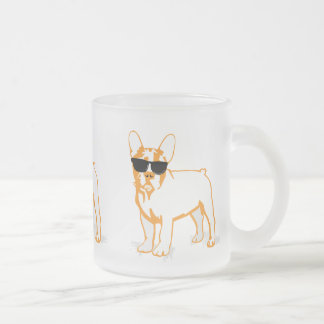 Frenchie Howlelu Frosted Glass Coffee Mug