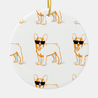 Frenchie Howlelu Christmas Ornaments