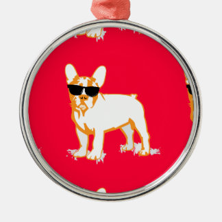 Frenchie Howlelu Christmas Ornament