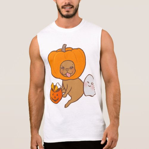 Frenchie in contume for Halloween party Sleeveless Shirt Sales