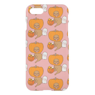 Frenchie in costume for Halloween party iPhone 7 Case