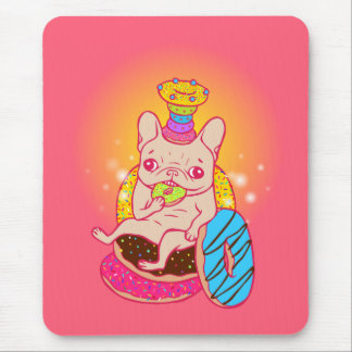 Frenchie is The King of Doughnuts Mouse Pad