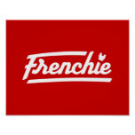 Frenchie Logotype Design Poster
