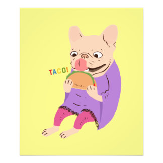 Frenchie Loves Taco Photo Print