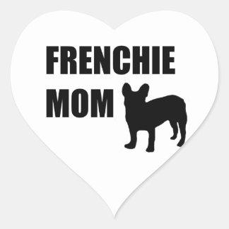 Frenchie Mom Heart Sticker