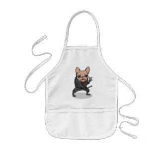 Frenchie Ninja Kids' Apron