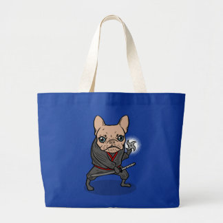 Frenchie Ninja Large Tote Bag