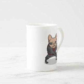 Frenchie Ninja Tea Cup