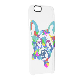 Frenchie on clear uncommon clearly™ deflector iPhone 6 case