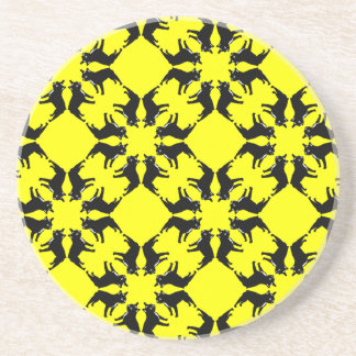 Frenchie Pattern pure Drink Coaster