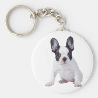 Frenchie - perrito del dogo francés llavero redondo tipo pin