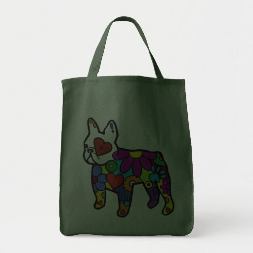 Frenchie Power Grocery Grocery Tote Bag