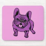 Frenchie púrpura alfombrilla de raton