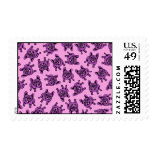 Frenchie púrpura sellos postales