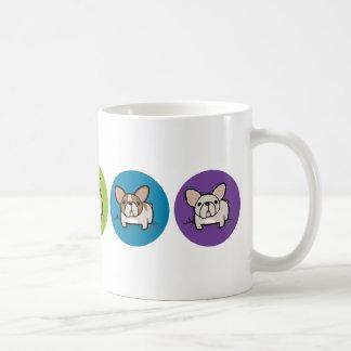 Frenchie Rainbow Classic White Coffee Mug