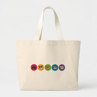 Frenchie Rainbow Large Tote Bag