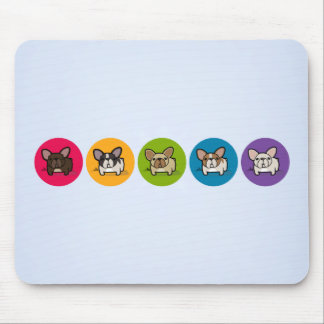Frenchie Rainbow Mouse Pad
