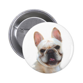 Frenchie Smiling button