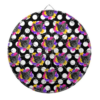 Frenchies and Pansy Dots Dart Board
