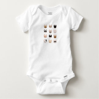 Frenchies Family Baby Onesie