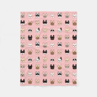 Frenchies Family Fleece Blanket