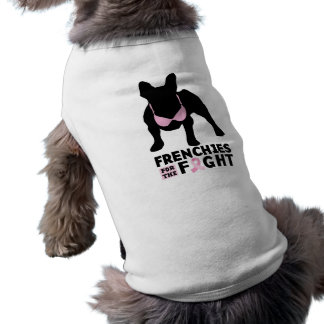 frenchies for the fight pet t-shirt