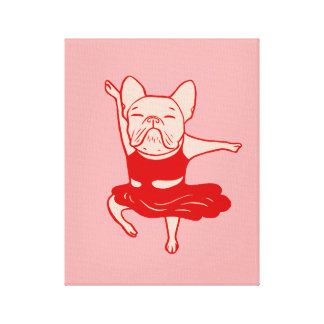 Frenchie's Solo Dance Canvas Print
