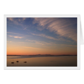 Frenchman Bay at Dusk Card