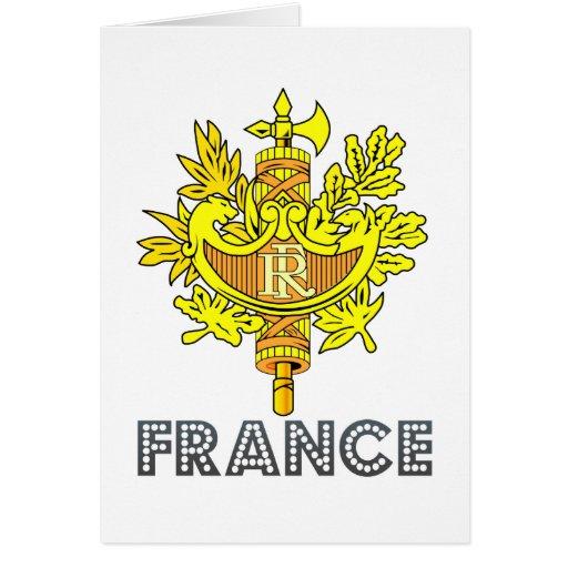 Frenchman Emblem Greeting Card
