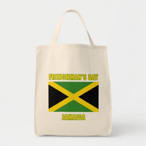 FRENCHMANS BAY Jamaica Beach Tshirts, Gifts Grocery Tote Bag