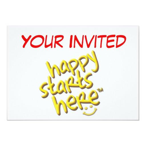 French's Happy Starts Here Invitation