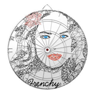 Frenchy but chic dartboard with darts