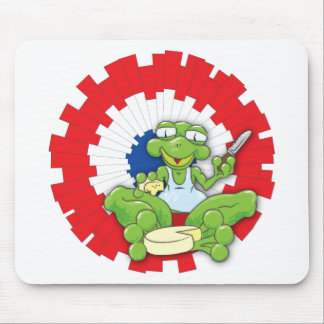 Frenchy Frog Mouse Pad