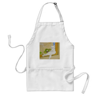 Frenchy looking at Eiffel tower Adult Apron