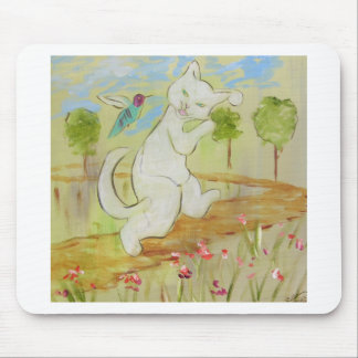 Frenchy talking to Humingbird Mouse Pad
