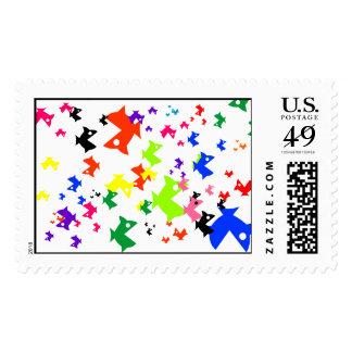 Frenesí de alimentación sello postal