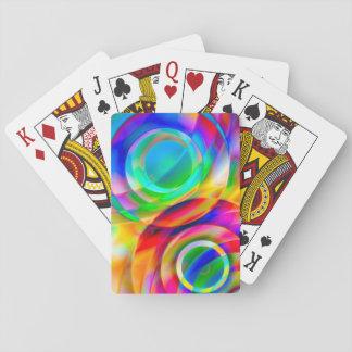 Frenesí del círculo barajas de cartas