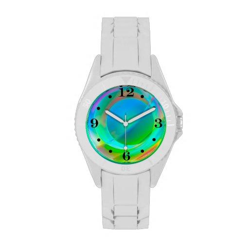 Frenesí del círculo relojes de pulsera