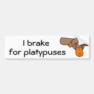 Freno de BW I para los platypuses Pegatina Para Auto