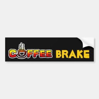 Freno del café (rotura) pegatina de parachoque