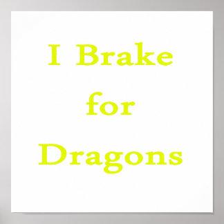 Freno para el amarillo de los dragones impresiones
