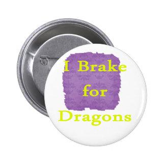 Freno para el amarillo de los dragones pin