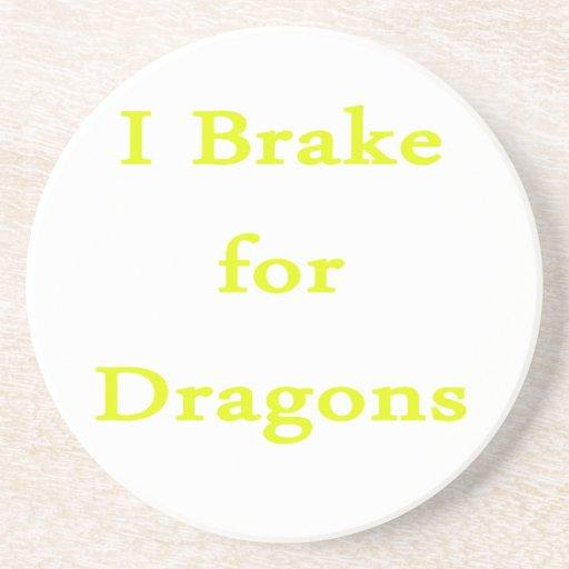 Freno para el amarillo de los dragones posavasos para bebidas