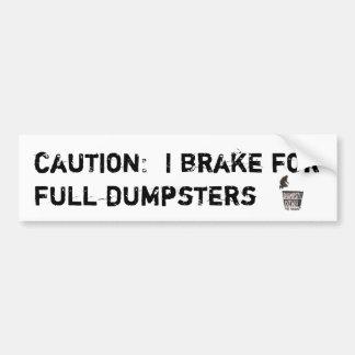 Freno para el bumpersticker completo de los conten pegatina para auto