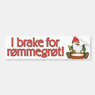 Freno para el parachoque de Rømmegrøt (Rommegrot) Pegatina Para Auto