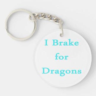 Freno para el trullo de los dragones llavero redondo acrílico a doble cara